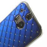 Drahokamové pouzdro pro HTC one M8- modré - 4/6