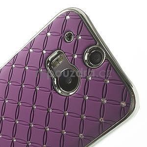 Drahokamové pouzdro pro HTC one M8- fialové - 4