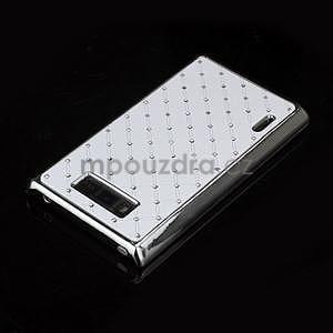 Drahokamové pouzdro pro LG Optimus L7 P700- bílé - 4