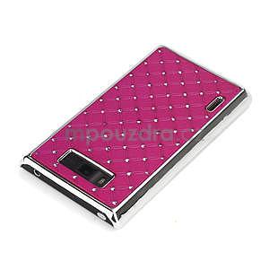 Drahokamové pouzdro pro LG Optimus L7 P700- růžové - 4