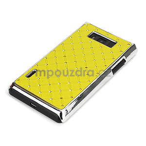 Drahokamové pouzdro pro LG Optimus L7 P700- žluté - 4