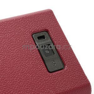 Texturované pouzdro pro LG Optimus L7 P700- červené - 4