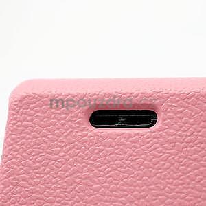 Texturované pouzdro pro LG Optimus L7 P700- světlerůžové - 4