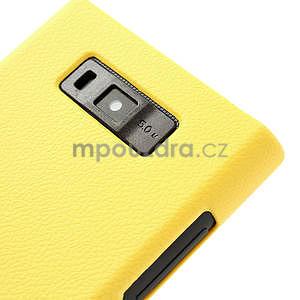 Texturované pouzdro pro LG Optimus L7 P700- žluté - 4