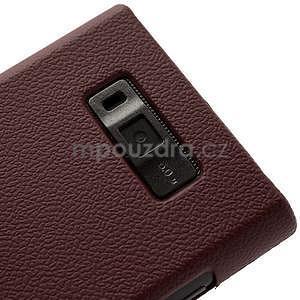 Texturované  pouzdro pro LG Optimus L7 P700- hnědé - 4