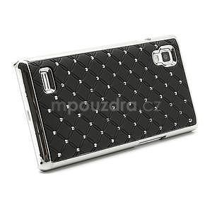 Drahokamové pouzdro pro LG Optimus L9 P760- černé - 4