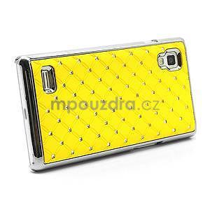 Drahokamové pouzdro pro LG Optimus L9 P760- žluté - 4