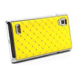 Drahokamové pouzdro pro LG Optimus L9 P760- žluté - 4/7