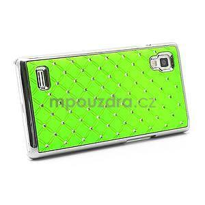 Drahokamové pouzdro pro LG Optimus L9 P760- zelené - 4
