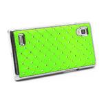 Drahokamové pouzdro pro LG Optimus L9 P760- zelené - 4/7