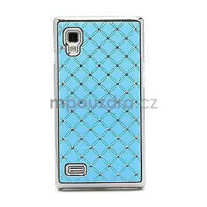 Drahokamové pouzdro pro LG Optimus L9 P760- světlemodré - 4