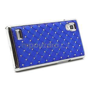 Drahokamové pouzdro pro LG Optimus L9 P760- modré - 4