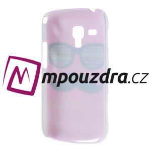 Plastové pouzdro na Samsung Trend plus, S duos - růžové kníraté - 4