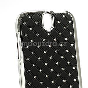 Drahokamové pouzdro pro HTC One SV- černé - 4
