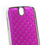 Drahokamové pouzdro pro HTC One SV- růžové - 4/5