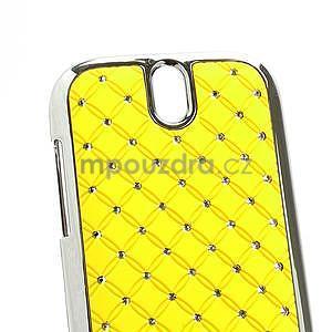 Drahokamové pouzdro pro HTC One SV- žluté - 4