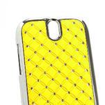 Drahokamové pouzdro pro HTC One SV- žluté - 4/5