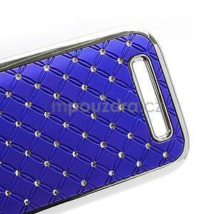 Drahokamové pouzdro pro HTC One SV- modré - 4