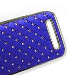 Drahokamové pouzdro pro HTC One SV- modré - 4/5