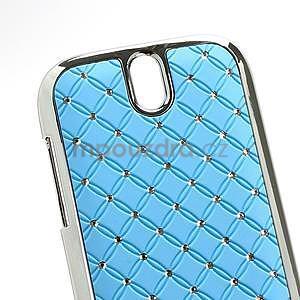 Drahokamové pouzdro pro HTC One SV- světlemodré - 4