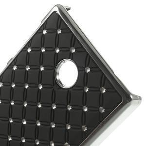 Drahokamové pouzdro na Nokia X dual- černé - 4