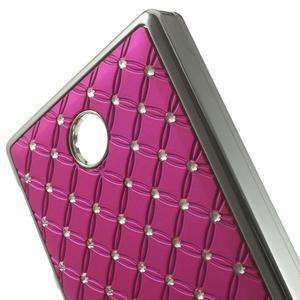 Drahokamové pouzdro na Nokia X dual- růžové - 4