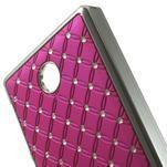 Drahokamové pouzdro na Nokia X dual- růžové - 4/5
