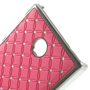 Drahokamové pouzdro na Nokia X dual- světlerůžové - 4