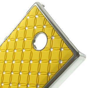 Drahokamové pouzdro na Nokia X dual- žluté - 4