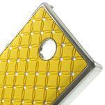 Drahokamové pouzdro na Nokia X dual- žluté - 4/5