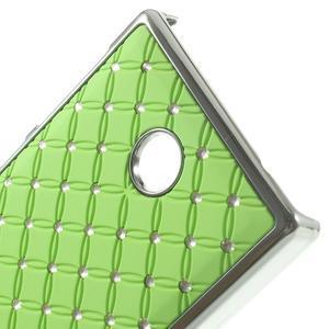 Drahokamové pouzdro na Nokia X dual- zelené - 4