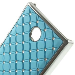 Drahokamové pouzdro na Nokia X dual- světlemodré - 4