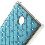 Drahokamové pouzdro na Nokia X dual- světlemodré - 4/5