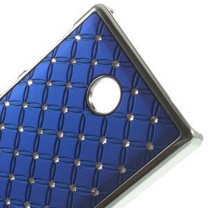 Drahokamové pouzdro na Nokia X dual- modré - 4