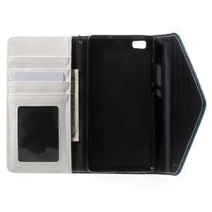 Luxusní peněženkové pouzdro na Huawei P8 Lite - bílé / modrozelené - 4