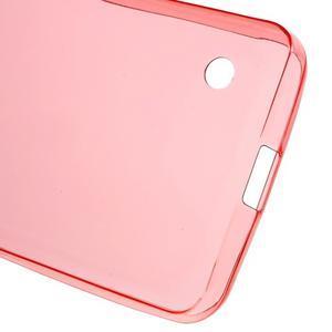 Ultratenký gelový obal na mobil Microsoft Lumia 550 - červený - 4