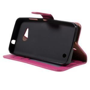 Cloth PU kožené pouzdro na mobil Microsoft Lumia 550 - rose - 4