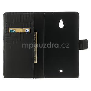 Peněženkové pouzdro pro Nokia Lumia 1320- černé - 4