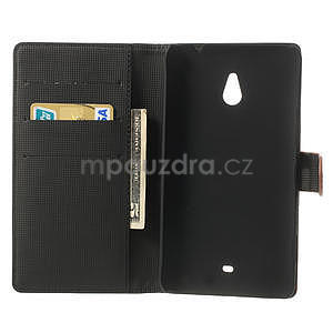 Peněženkové pouzdro pro Nokia Lumia 1320- hnědé - 4