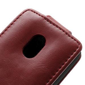 Flipové pouzdro na Nokia Lumia 620- červené - 4