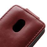 Flipové pouzdro na Nokia Lumia 620- červené - 4/5