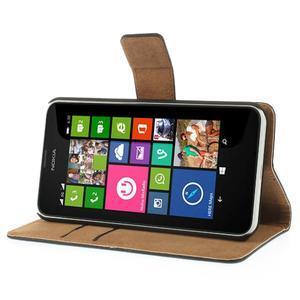 Peněženkové pouzdro na Nokia Lumia 630- černé - 4