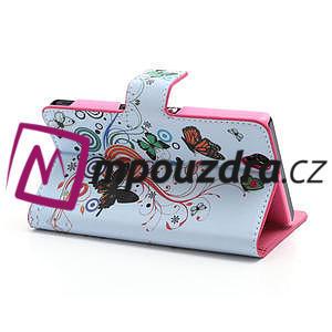 Peněženkové pouzdro na Sony Xperia Z C6603 - barevní motýlci - 4