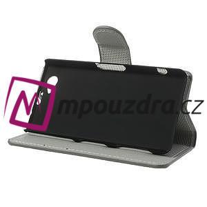Peněženkové pouzdro na Sony Xperia Z1 Compact D5503 - zebrované - 4