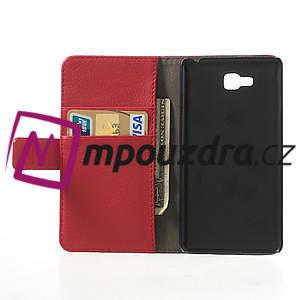 Peněženkové pouzdro na LG Optimus L9 II D605 - červené - 4