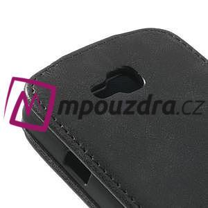 Flipové PU kožené pouzdro na LG Optimus L9 II D605 - černé - 4