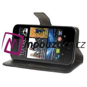 Peněženkové PU kožené pouzdro na HTC Desire 310- černé - 4