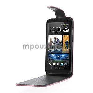 Flipové pouzdro pro HTC Desire 601- růžové - 4