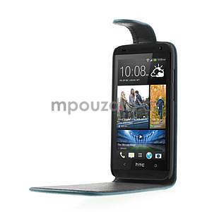 Flipové pouzdro pro HTC Desire 601- modré - 4