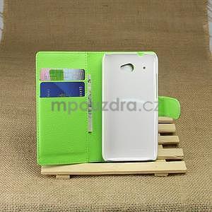 Peněženkové pouzdro pro HTC Desire 601- zelené - 4
